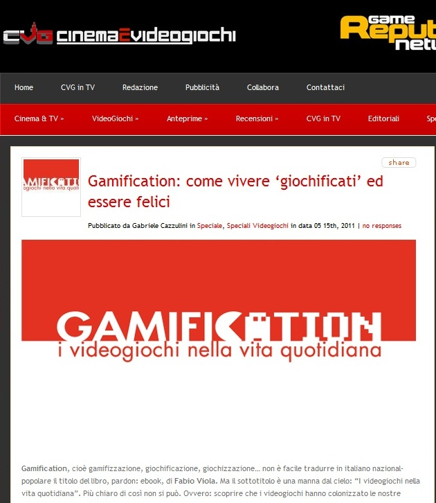 Immagine I media italiani parlano del libro Gamification