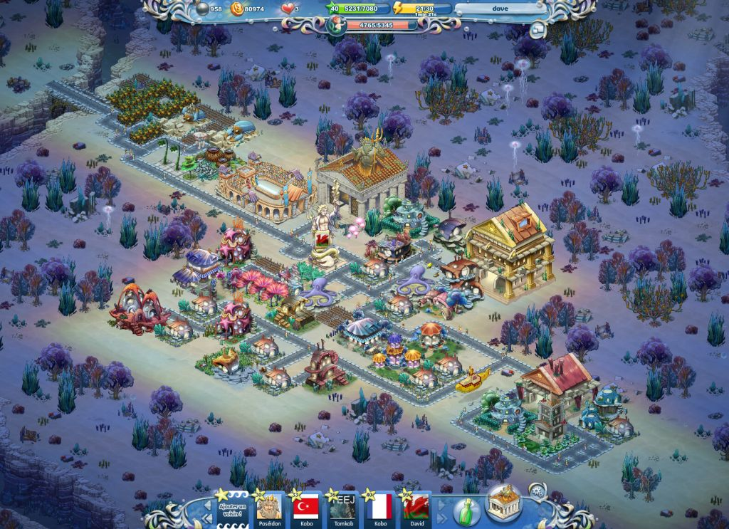 Screenshot Jon city 3 zoom out Atlantis Fantasy: un esempio di social game design
