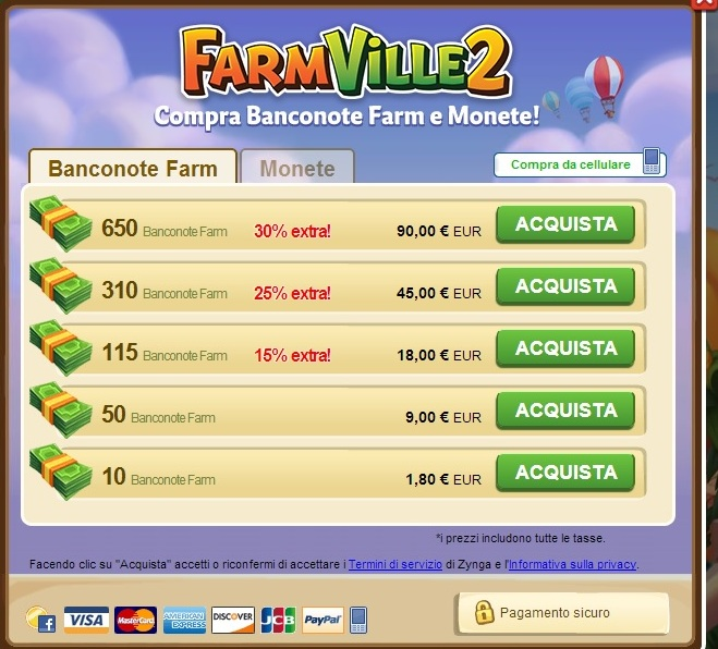 farmville2 Neuromarketing: Bonus Pack vs Sconto