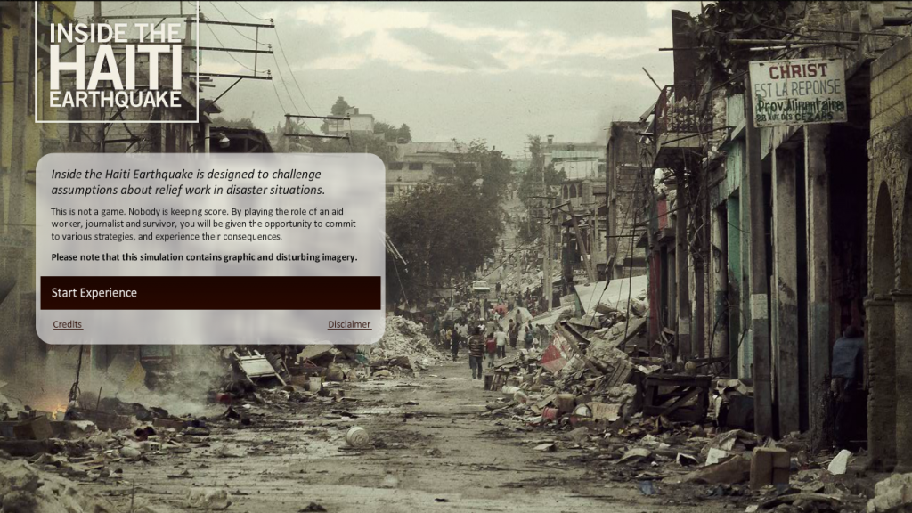 Inside the Haiti Earthquake start 1024x576 Meaningful Choices tra Game e Gamification Design