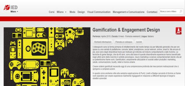 "Fabio Viola Coordina il Master in ""Gamification & Engagement Design"" IED Milano"