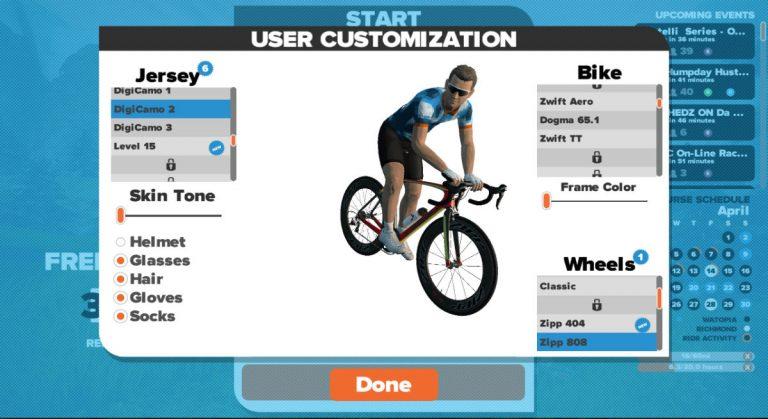 zwift-personalizzazione