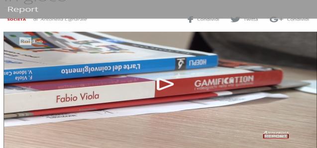 Fabio Viola a Report (Rai3)  sulla Gamification