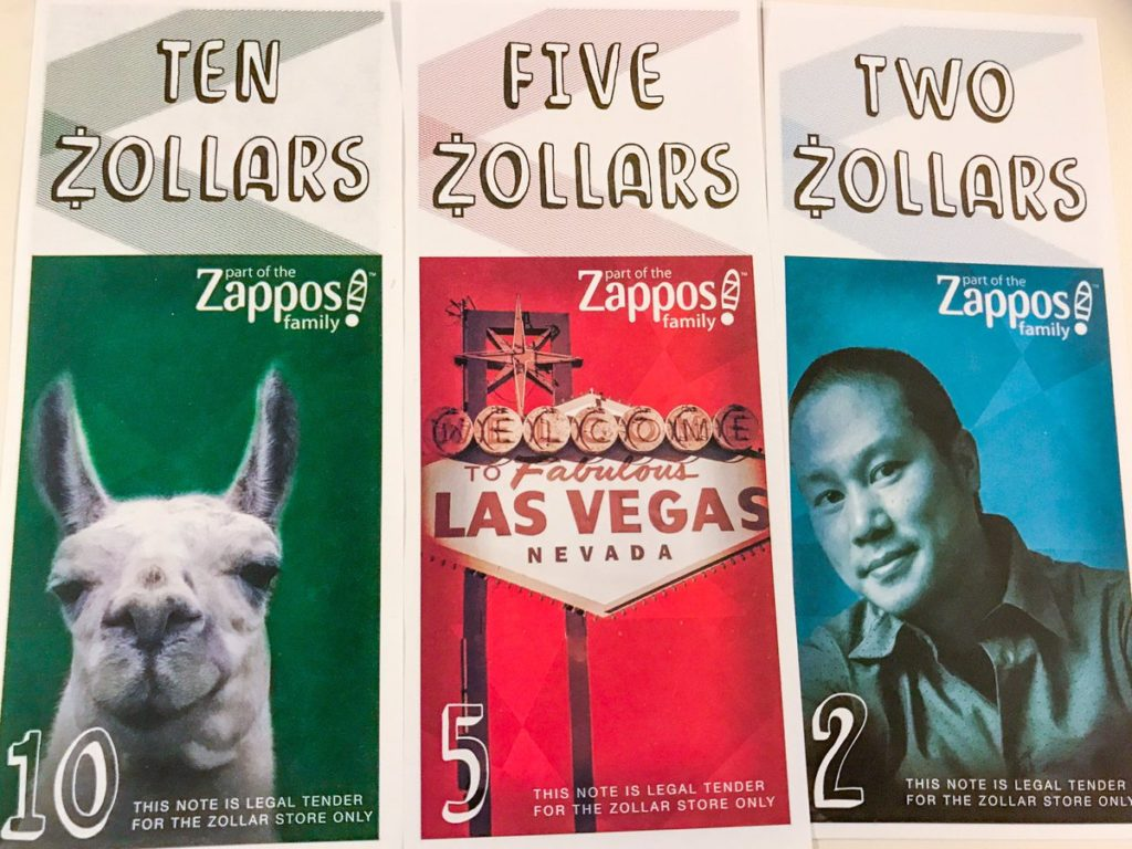 zollars virtual currency zappos