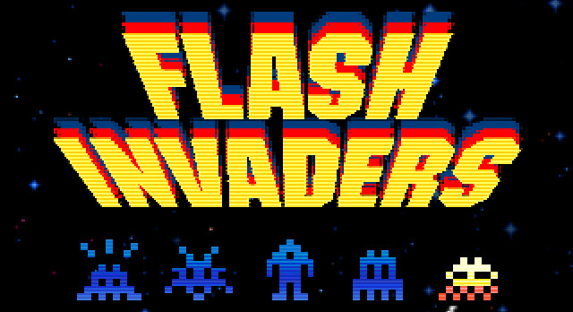 Flash Invaders street art